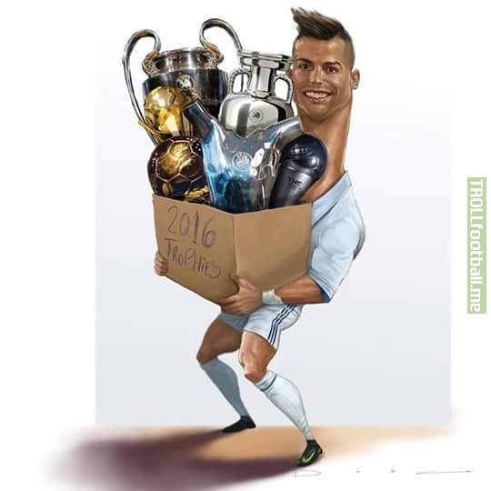 Cristiano Ronaldo over the past year.