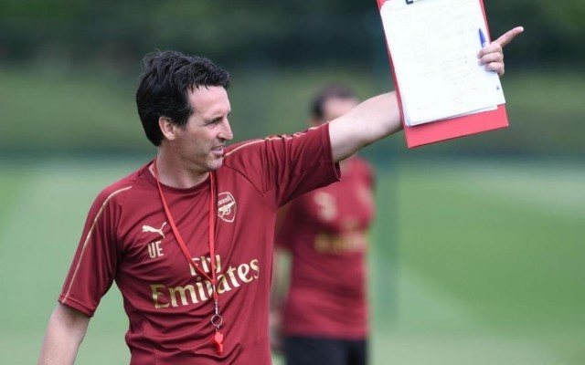 unai emery arsenal training