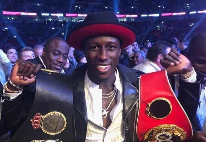 Man City's Mendy at Joshua fight, Sterling Instagram comment