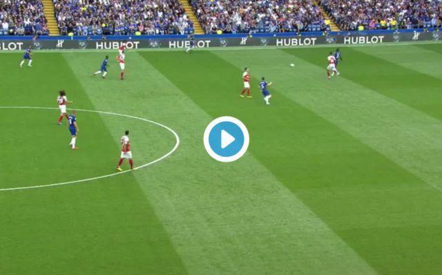 Video: Alvaro Morata puts Arsenal the sword as he bags fine solo strike for Chelsea