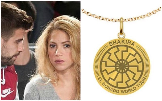 Barcelona news: Pique WAG Shakira sells Nazi necklace