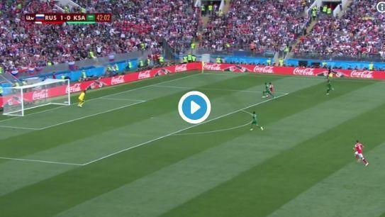 Video: Denis Cheryshev goal for Russia vs Saudi Arabia