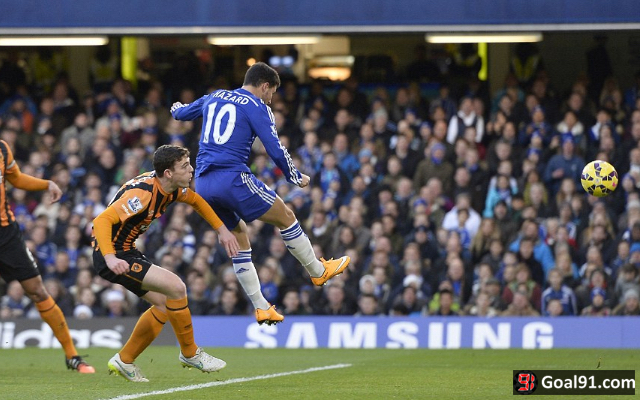 (Photo) Chelsea heap praise on Eden Hazard following milestone