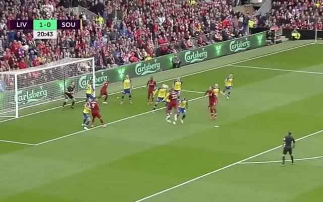 Video: Joel Matip scores fantastic headed goal to give Liverpool 2-0 lead in Southampton clash