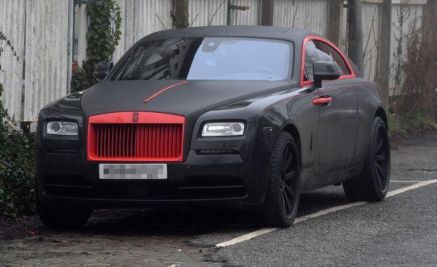 Lukaku Rolls Royce Man Utd red and lack