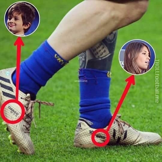 Messi, the family man.