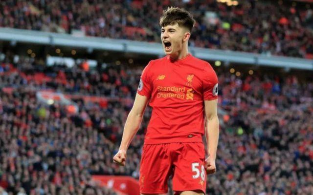 Liverpool's Ben Woodburn