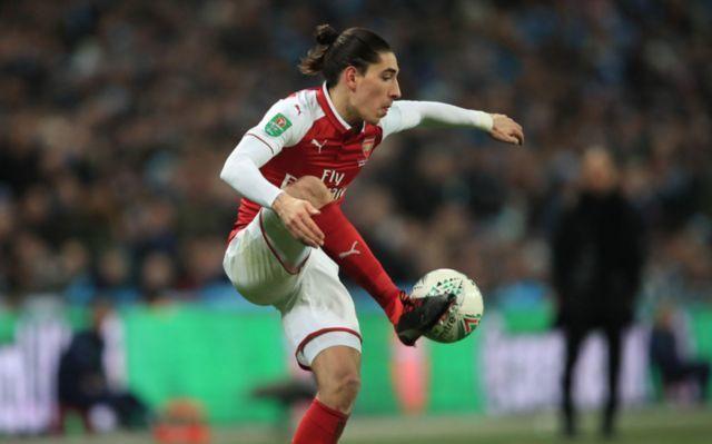 Arsenal's Hector Belleirn