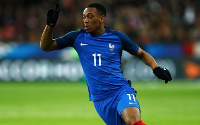 Martial playing for France