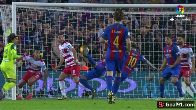 VIDEO: Rafinha scores a brilliant goal for Barcelona to see off Granada (video)