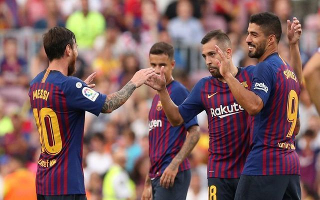 Barcelona Messi Suarez Alba Coutinho
