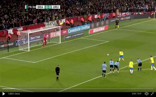 Video: Neymar scores penalty to give Brazil lead vs Uruguay