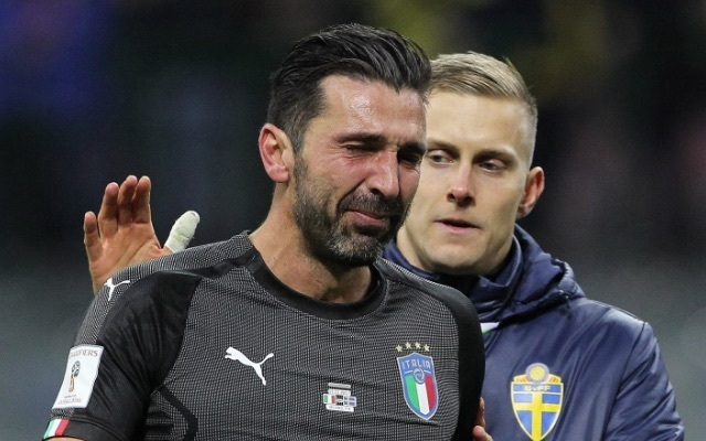 Gianluigi Buffon fights tears after his Italy career ends in World Cup heartache on a night which saw the Juventus legend show more class than many Azzurri fans