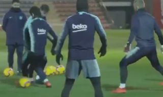 Video: Lionel Messi claims his first victim of 2019 with savage skill in Barcelona training | Goal91