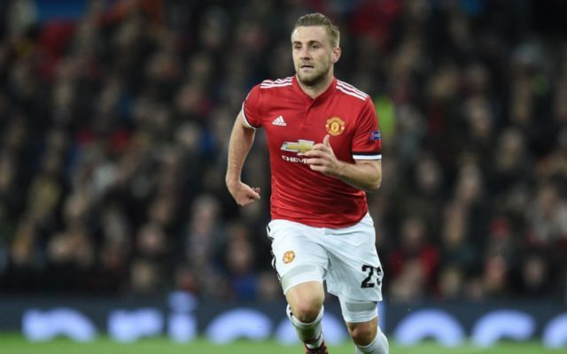 man united defender Luke SHaw