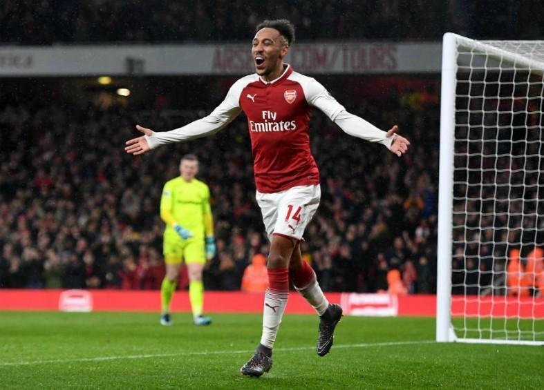 aubameyang arsenal vs everton