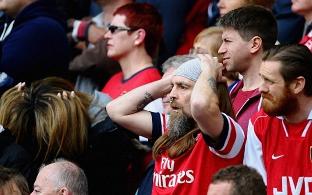 Gutted Arsenal fans
