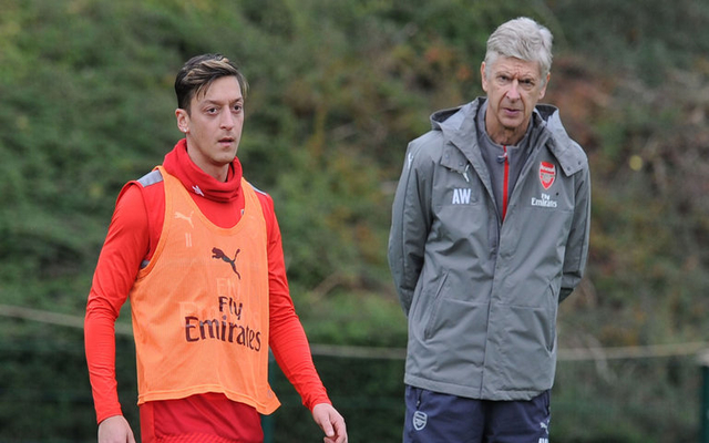 Mesut Ozil cheekily snubs Arsenal coach ahead of crunch clash with Tottenham