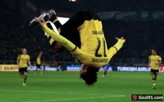 Pierre-Emerick Aubameyang Dortmund v Tottenham