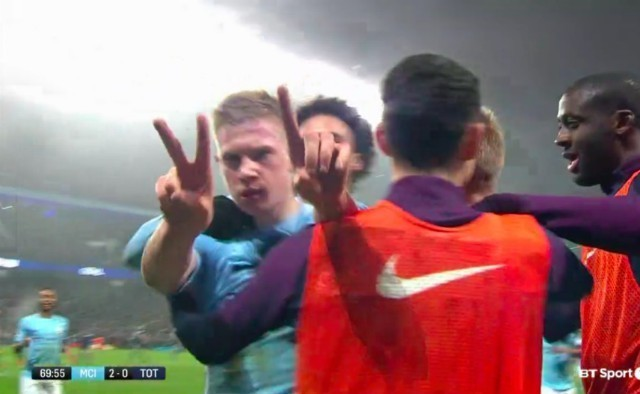 Did Kevin De Bruyne just troll Jose Mourinho and Manchester United after scoring second Manchester City goal vs Tottenham?