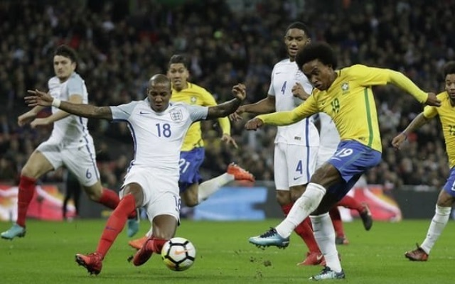 Ashley Young (left) impressed as he made his first England appearance in four years