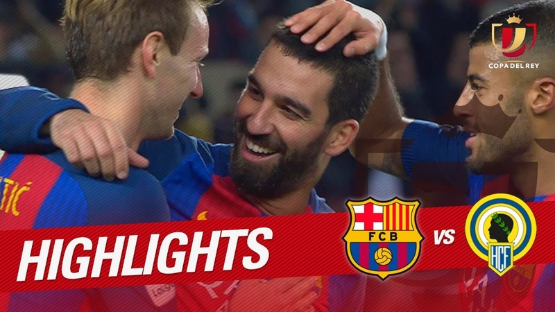 VIDEO: Arda Turan bags a hat-trick as Barcelona crush Hercules 7-0 (official video)