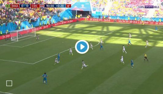 Video: Coutinho goal for Brazil vs Costa Rica