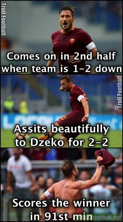 cb50ebb9ff0061446a8dbffd43b191f0 francesco totti soccer memes goal91