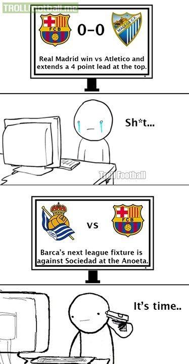 Poor FC Barcelona fans..