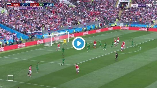Russia 1-0 Saudi Arabia Yuri Gazinsky goal video