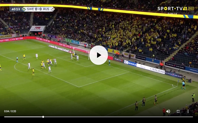 Video: United's Lindelof, a fox in the box for Sweden vs Russia