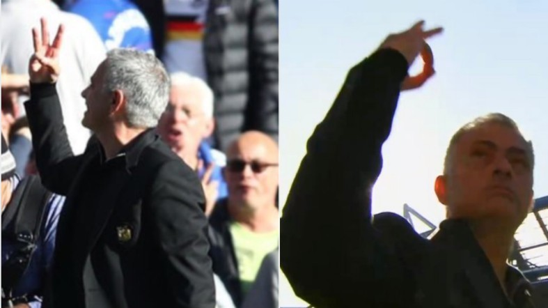 mourinho three fingers