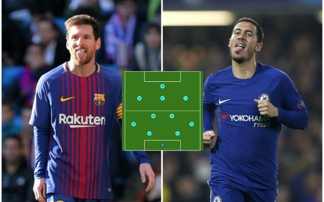 Chelsea & Barcelona combined XI: Lionel Messi & Eden Hazard leading stunning attack ahead of huge Champions League clash
