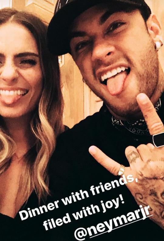 Neymar and Layla Anna-Lee via her Instagram page