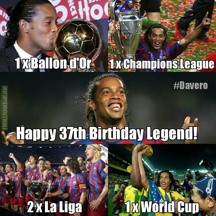 Happy Birthday To Ronaldinho Soccer Memes Goal91