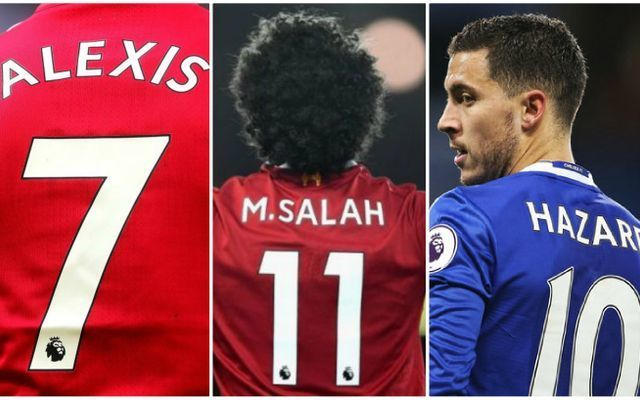 Premier League shirt sales in 2018: Man Utd, Chelsea and Liverpool stars battle for top spot