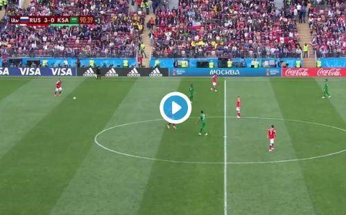 Video: Denis Cheryshev great goal for Russia vs Saudi Arabia