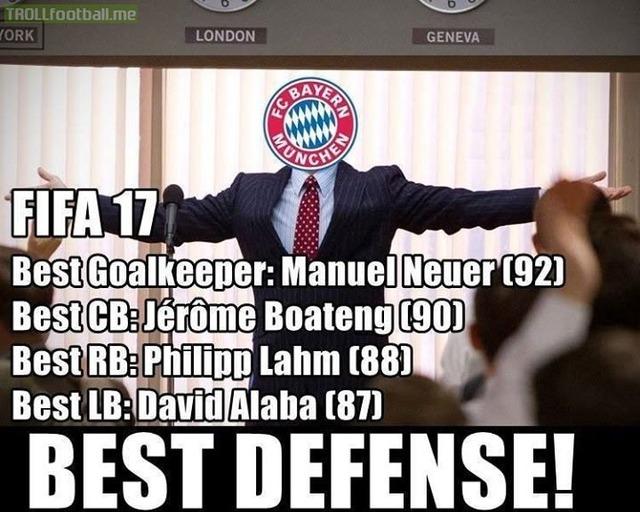 da2d72707db5c19d69fbc1131e3272ba bayern's fifa 17 defense is one hunnit soccer memes goal91