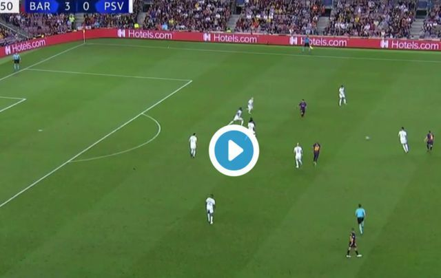 Video: Lionel Messi completes hat-trick for Barcelona in Champions League tie, Luis Suarez picks up cheeky assist