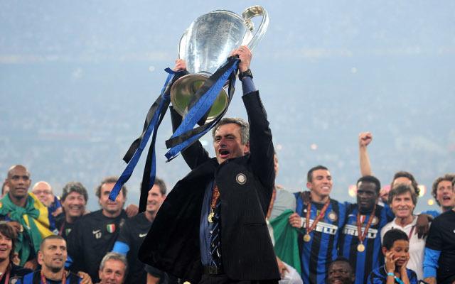Jose Mourinho Champions League trophy