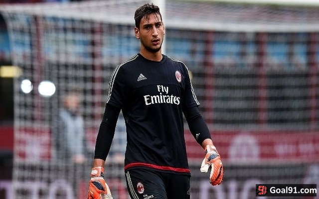 Man Utd target Donnarumma in action for Milan