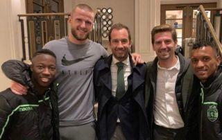 (Photo) Jan Vertonghen mocks Eric Dier over apparent boner as Tottenham star poses with Sporting Lisbon duo ahead of Arsenal clash   Goal91