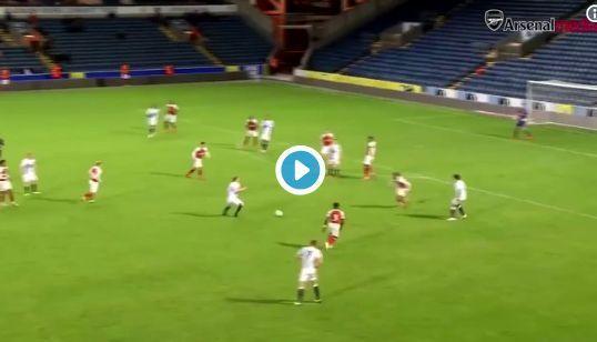 Arsenal's Joe Willock nearly scores wondergoal - video