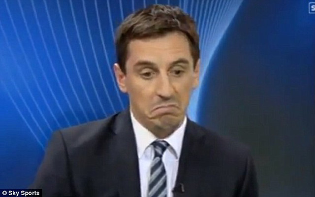 Running scared: Gary Neville tries to dodge punditry duty for potential Manchester United humiliation