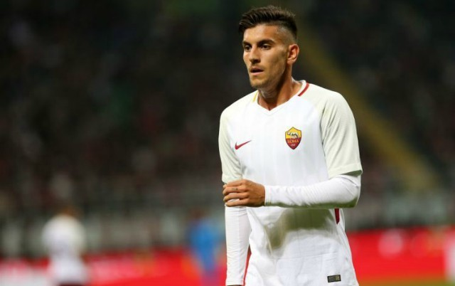 Lorenzo Pellegrini in action for Roma