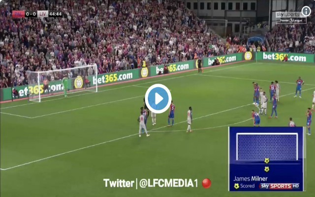 Video: Milner opens scoring against Palace from Penalty spot