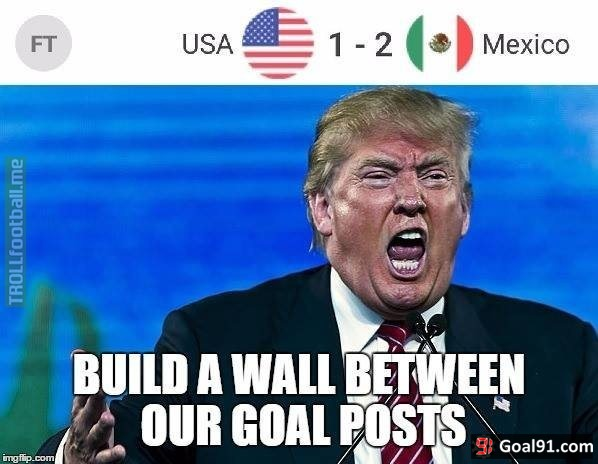 donald trump after america loses to mexico soccer memes goal91