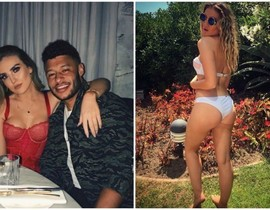Video: Alex Oxlade-Chamberlain films close-up of girlfriend's 'peachy' bum on the sly as Liverpool star and WAG Perrie Edwards enjoy date night