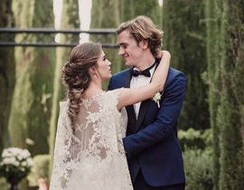 First Antoine Griezmann wedding photos emerge online as Atletico Madrid star confirms Erika Choperena is now his wife