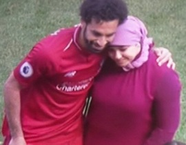 Mohamed Salah's wife watches daughter show off skills at Anfield